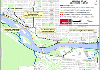 BOW RIVER PATHWAY CLOSURES – 14th Street NW to 29th Street NW