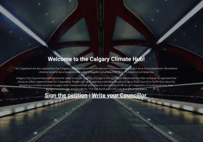 Help Calgary Climate Hub, while they help Bike Calgary