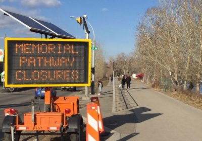 Memorial Drive Bike Pathway Closures : April 1st – 20th