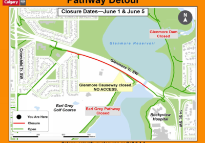 Head's up Calgary Glenmore Trail Causeway users!
