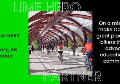 Lime Partners with Bike Calgary to Create Safer Streets