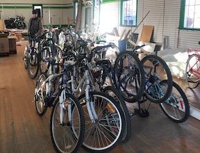 bikes in a storage location
